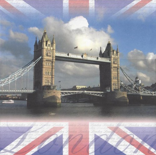 Scrapbook Paper Londen Towerbridge 30,5x30,5cm 25 vellen