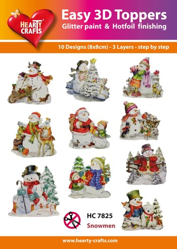Easy 3D Toppers Snowmen