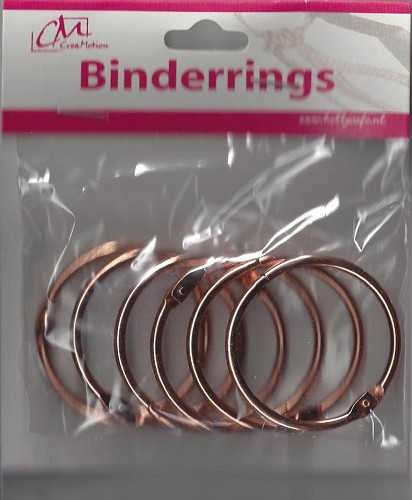Binderrings 45 mm 6 stuks Koperkleur